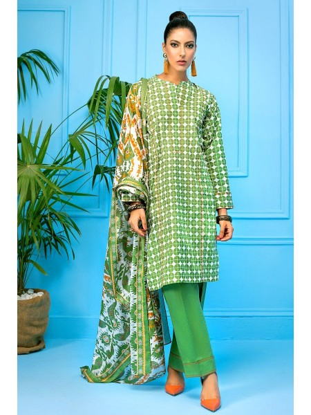 Gul Ahmed Mid Summer Collection 3 PC Unstitched Printed Cambric Suit CBN-114 A
