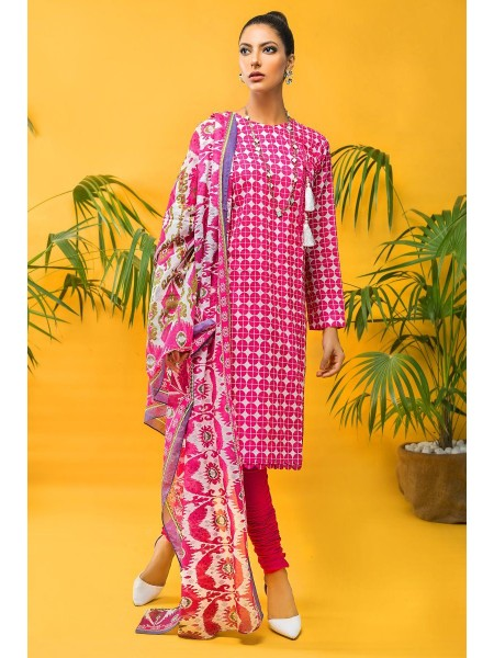 Gul Ahmed Mid Summer Collection 3 PC Unstitched Printed Cambric Suit CBN-114 B