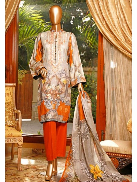HZ TEXTILE Turkish Jacquard Embroidered Unstitched Collection 2020 D-3A-Cement Gray