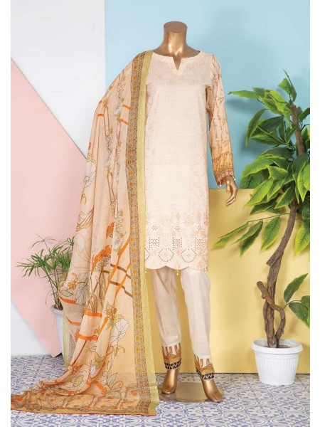JAVED Shanza Unstitched Printed And Embroidered Lawn Collection D-DE 01
