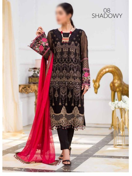 Kuch Khas Unstitched Chiffon Collection20 D-08 SHADOWY
