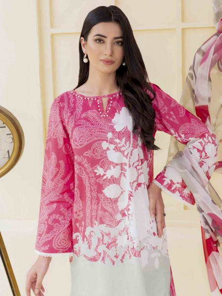 Lime Light Summer Collection Vol3 2-Pc Lawn Suit U1066SU-2PC-PNK