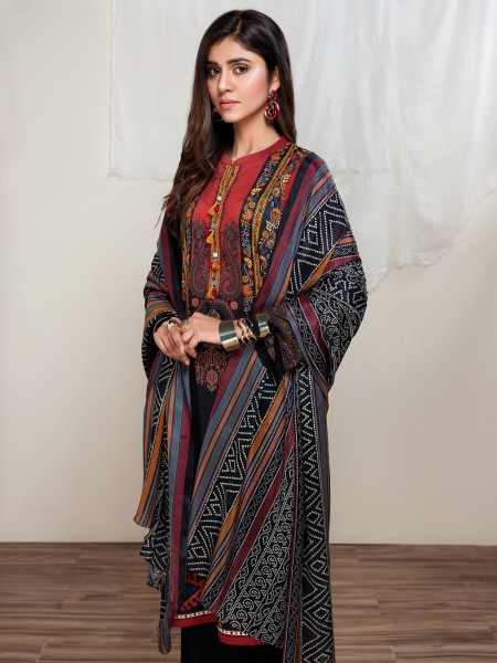 Lime Light Summer Collection Vol3 2-Pc Lawn Suit U1081SU-2PC-BLK