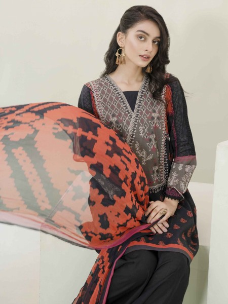 Lime Light Summer Collection Vol3 2-Pc Lawn Suit U1187SU-2PC-BLK