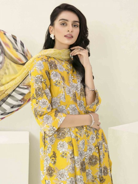 Lime Light Summer Collection Vol3 3-Pc Lawn Suit U1172SU-3PC-YLW
