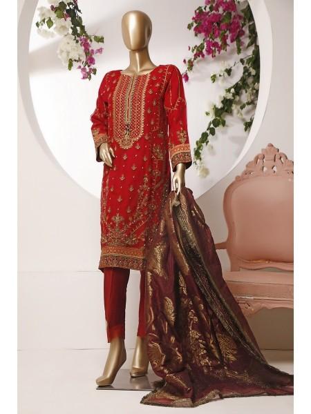 Sadabahar 2 Pcs Stitch Formal Wedding Collection MA 42 Mahroon