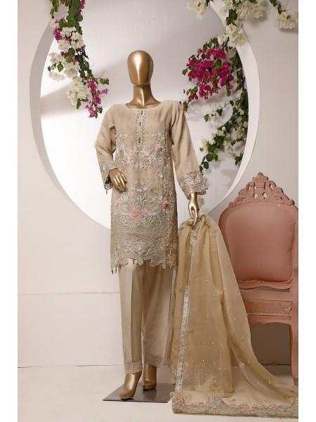 Sadabahar 2 Pcs Stitch Formal Wedding Collection N6 Fawn