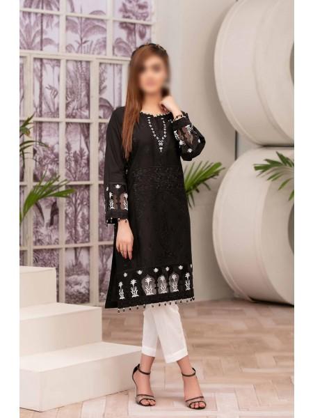 TAWAKKAL Monochrome Bareeza Cambric Cotton Ready To Wear D-9166