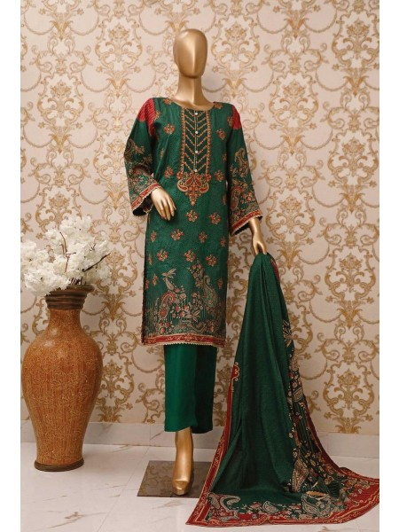 BIN SAEED Stitched Linen Collection V-01 Design 05