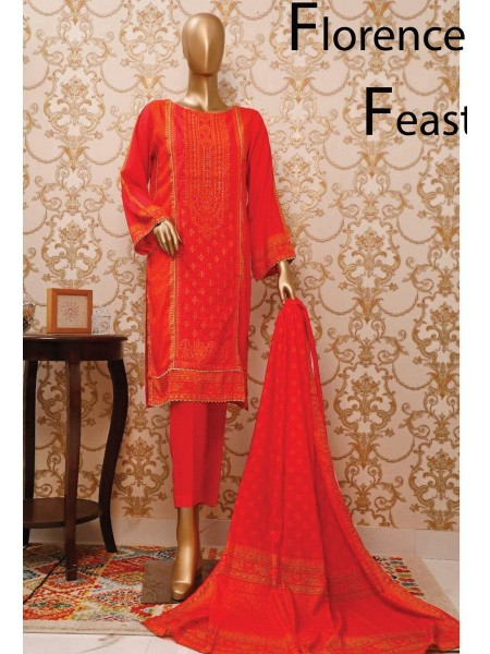 BIN SAEED Stitched Linen Collection V-01 Design 3856