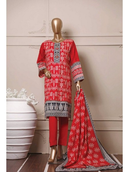 BIN SAEED Stitched Mid Summer Cotton Collection Vol-01 D-01