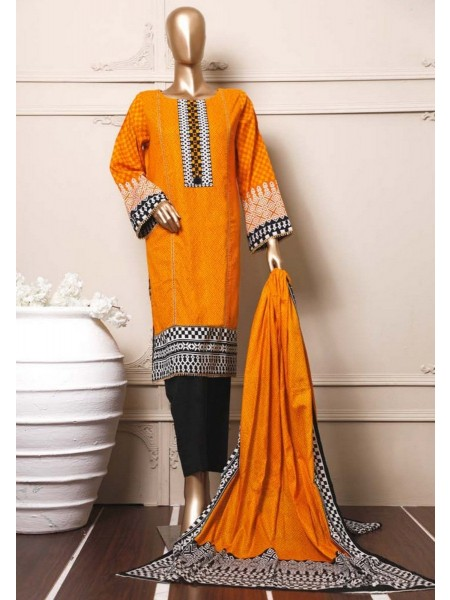 BIN SAEED Stitched Mid Summer Cotton Collection Vol-01 D-06