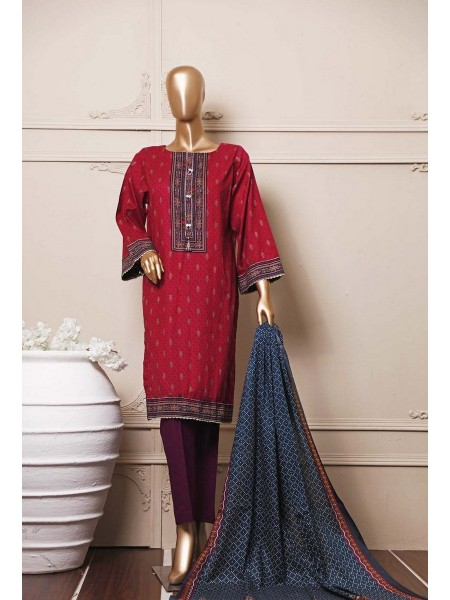 BIN SAEED Stitched Mid Summer Cotton Collection Vol-01 D-07