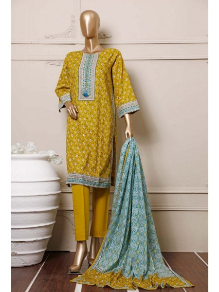 BIN SAEED Stitched Mid Summer Cotton Collection Vol-01 D-15