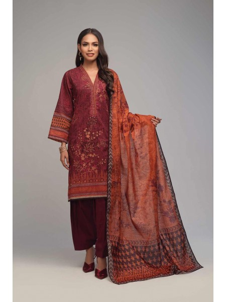 Bonanza Satrangi Winter Collection Vol1 ROSEWOOD - 3 PC B2100004159334