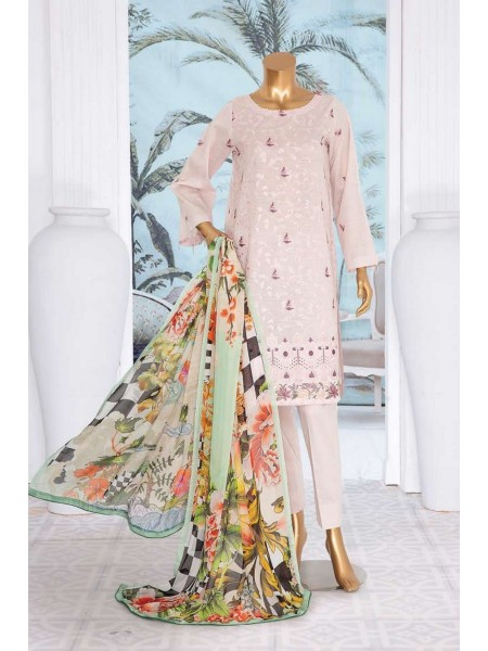 JAVED ARTS Haniya Printed And Unstitched Embroidered Lawn Collection D 04