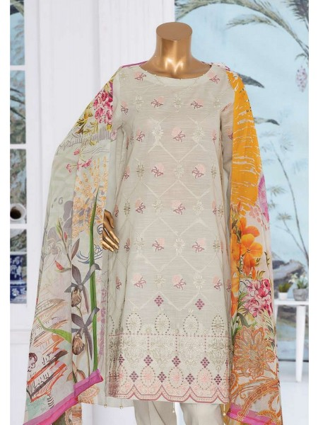 JAVED ARTS Haniya Printed And Unstitched Embroidered Lawn Collection D 06