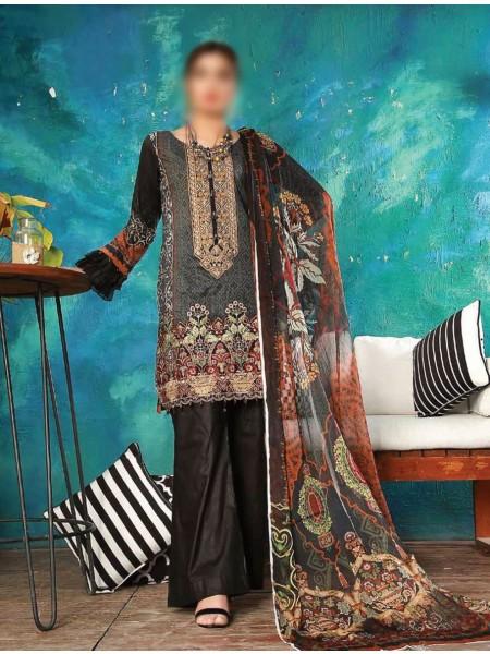 JUBILEE TEXTILE Esha Minhal Unstitched Embroidery Collection20 D-EM-202