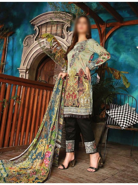 JUBILEE TEXTILE Esha Minhal Unstitched Embroidery Collection20 D-EM-211