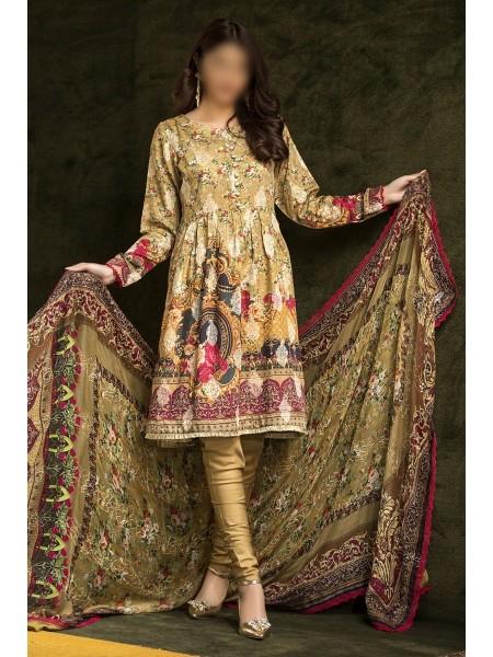 MARJJAN Zohra Viscose Unstitched Barosha Collection D-Chambelli VMC-169