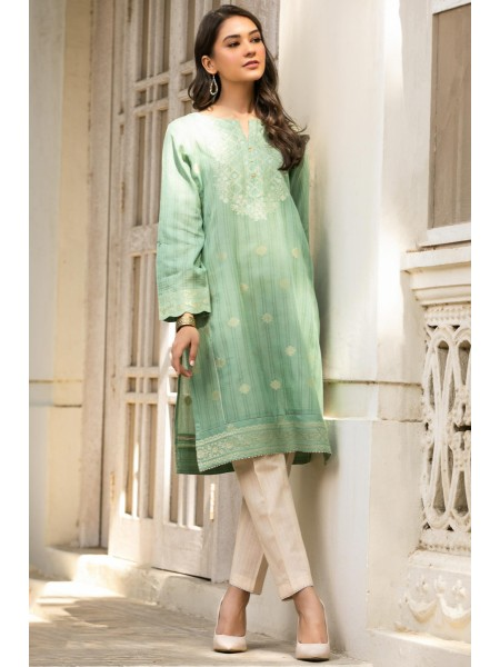 Zeen Woman Jacquard Collection Stitched 1 Piece Yarn Dyed Jacquard Shirt ZW-016