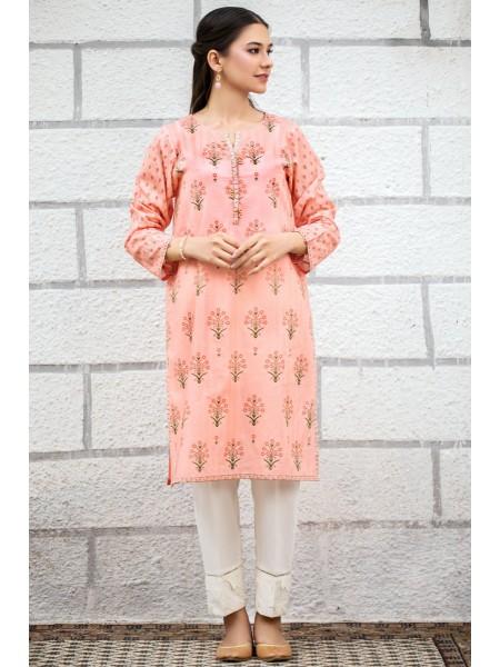 Zeen Woman Print Pret Stitched 1 Piece Digital Printed Doria Lawn Shirt ZW-046