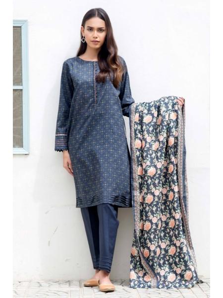 Zeen Woman Print Pret Stitched 2 Piece Printed Lawn Suit ZW-048