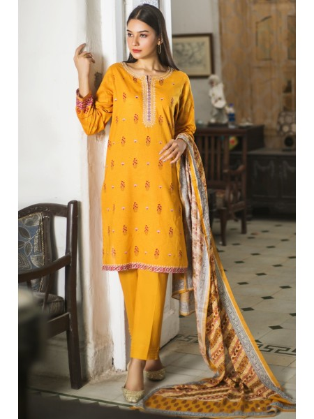 Zeen Woman Print Pret Stitched 3 Piece Embroidered Lawn Suit ZW-037