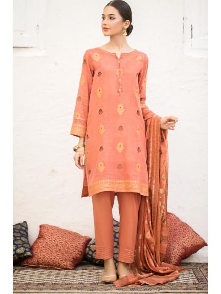 Zeen Woman Print Pret Stitched 3 Piece Jacquard Suit ZW-032