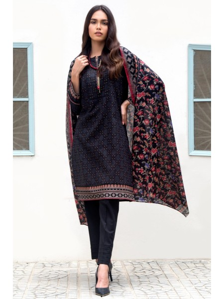 Zeen Woman Print Pret Stitched 3 Piece Printed Lawn Suit ZW-030