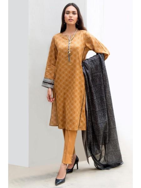 Zeen Woman Print Pret Stitched 3 Piece Printed Lawn Suit ZW-035
