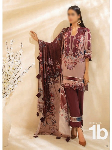 AL ZOHAIB COLORS DIGITAL PRINTED UNSTITCHED CAMBRIC COLLECTION D-01B