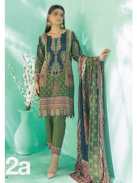 AL ZOHAIB COLORS DIGITAL PRINTED UNSTITCHED CAMBRIC COLLECTION D-02A