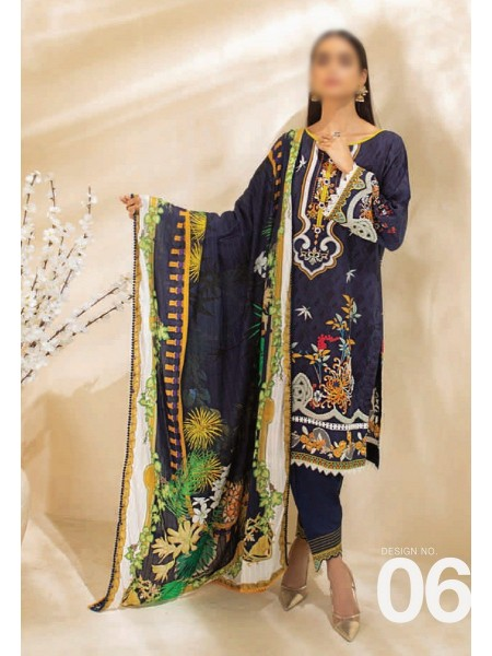 AL ZOHAIB COLORS DIGITAL PRINTED UNSTITCHED CAMBRIC COLLECTION D-06