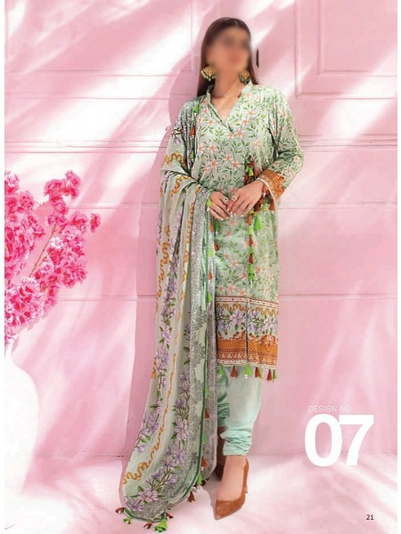 AL ZOHAIB COLORS DIGITAL PRINTED UNSTITCHED CAMBRIC COLLECTION D-07