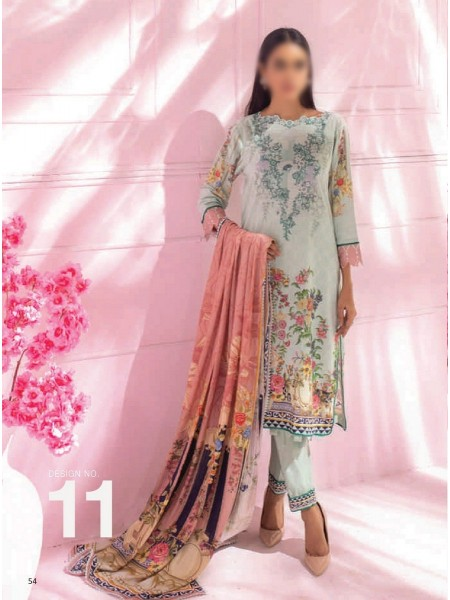 AL ZOHAIB COLORS DIGITAL PRINTED UNSTITCHED CAMBRIC COLLECTION D-11