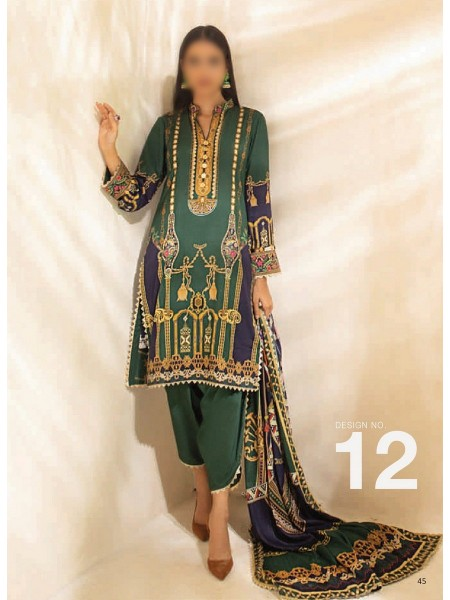 AL ZOHAIB COLORS DIGITAL PRINTED UNSTITCHED CAMBRIC COLLECTION D-12