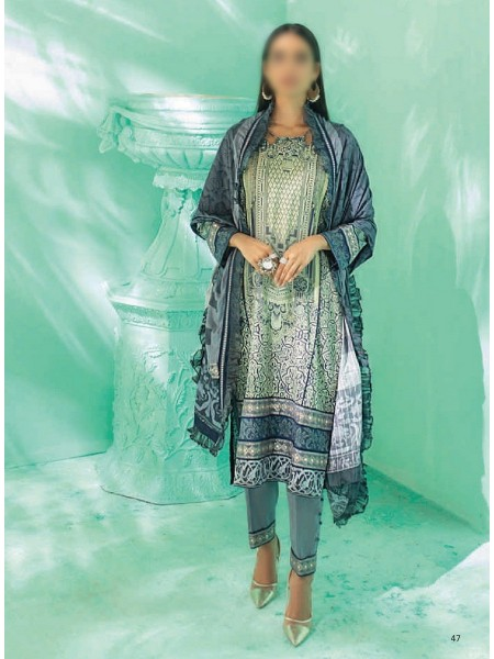 AL ZOHAIB COLORS DIGITAL PRINTED UNSTITCHED CAMBRIC COLLECTION D-16