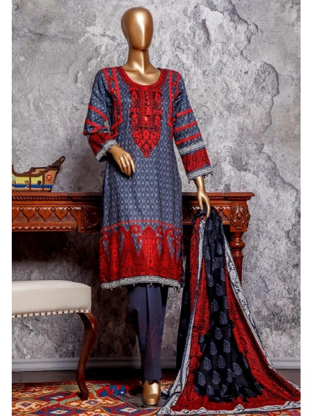 Amna Khadija Signature Unstitched Cotton Collection - D-17
