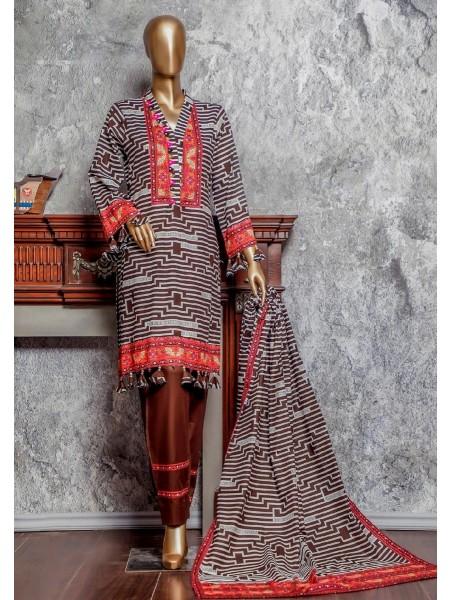 Amna Khadija Signature Unstitched Cotton Collection - D-04