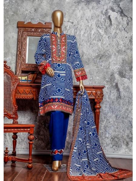 Amna Khadija Signature Unstitched Cotton Collection - D-05