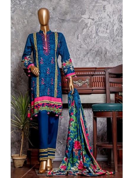 Amna Khadija Signature Unstitched Cotton Collection - D-15