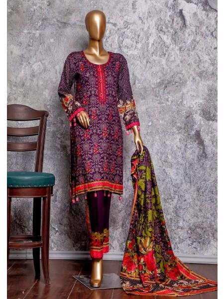 Amna Khadija Signature Unstitched Cotton Collection - D-18