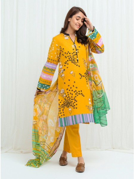 BeechTree AW 2020 Unstitched Collection YELLOW MIST - 2 Piece BT1W20U12-MIX-2000000152878-2P