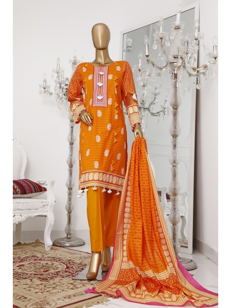 BIN SAEED Unstitch Printed Cotton Cambric Collection20 Vol-02 D-01