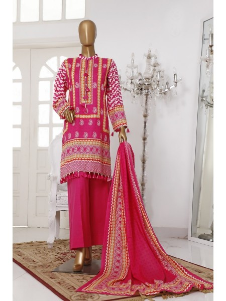 BIN SAEED Unstitch Printed Cotton Cambric Collection20 Vol-02 D-02