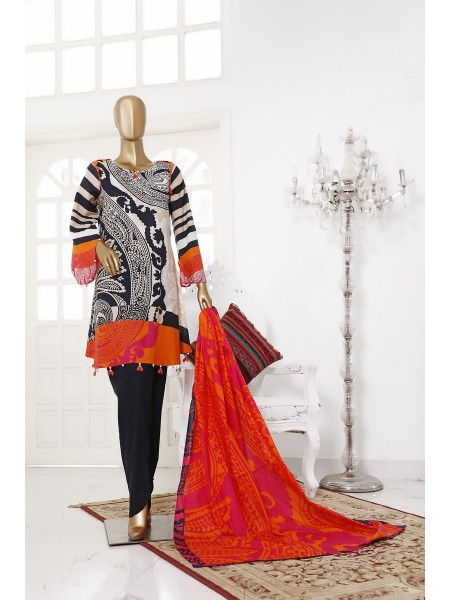 BIN SAEED Unstitch Printed Cotton Cambric Collection20 Vol-02 D-04