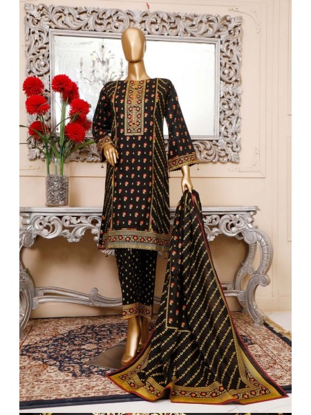 BIN SAEED Unstitched Cambric Embroidered Collection Vol-02 D-01