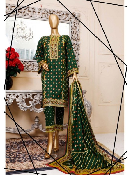 BIN SAEED Unstitched Cambric Embroidered Collection Vol-02 D-02
