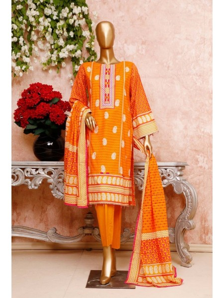 BIN SAEED Unstitched Cambric Embroidered Collection Vol-02 D-04